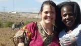 photo of Katie Edwards (l.) at Nairobi National Park  with Eva,  now one of the leaders in Ujamaa Africa