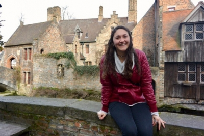 photo of Jackie Klatt '18 in Belgium