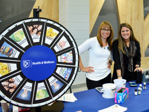 Dawn and Shannon with Wellness Wheel