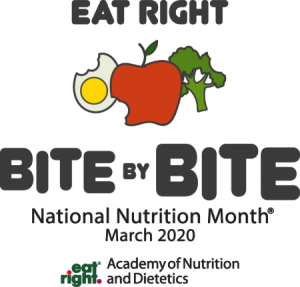 Eat Right National Nutrition Month Graphic