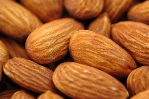 close up picture of almonds
