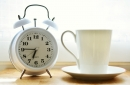 Alarm clock and mug