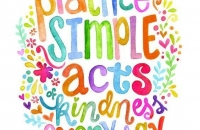 Practice simple acts of kindness every day