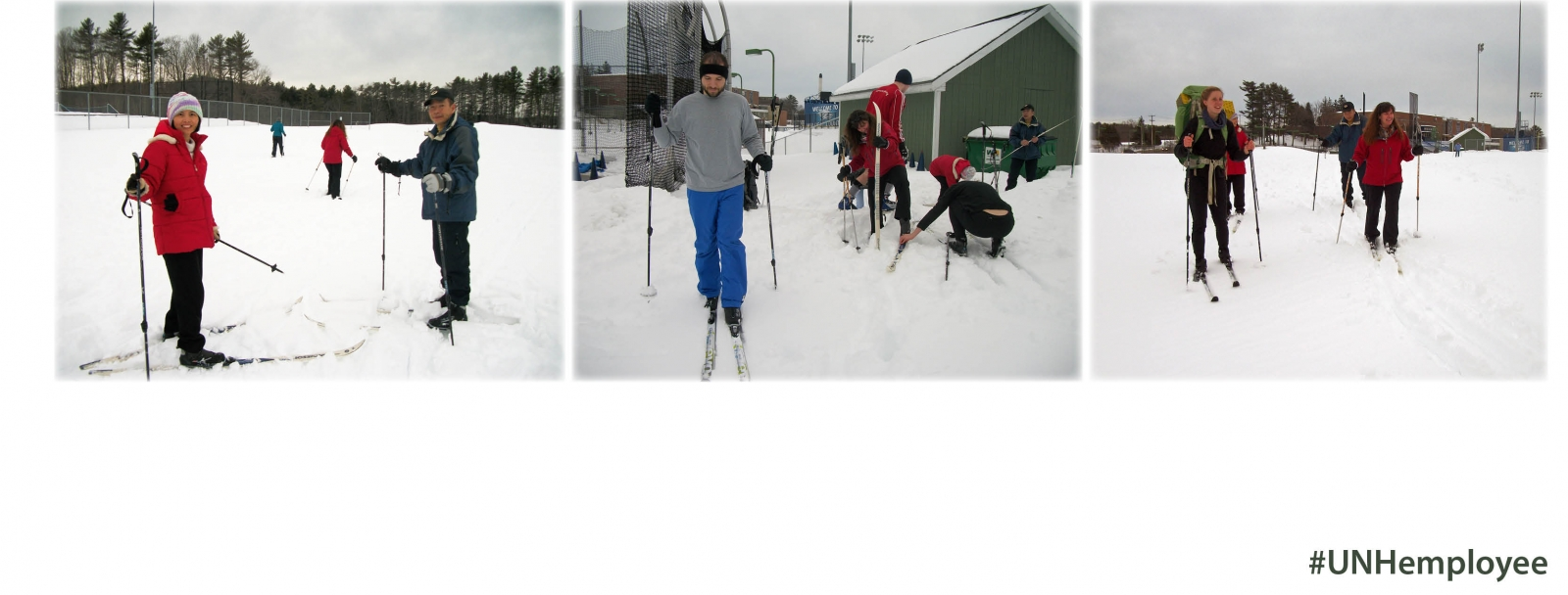Healthy UNH Outdoors; UNH Employees Get Active with Cross-Country Skiing & Snowshoeing