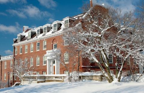 Hetzel Hall in the winter