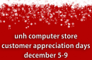 UNH Computer Store customer appreciation days