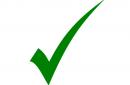 Green check mark indicating legitimate email.