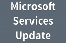 Photo of a message that reads Microsoft Services Update
