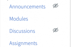 myCourses menu links