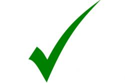 Green Check Mark = Legitimate Communication
