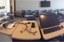 Image of Kingsbury S320 Zoom Room at the University of New Hampshire