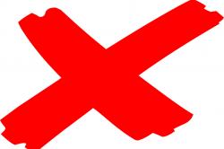 Red X indicating phishing