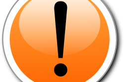 Orange Circle with Exclamation Point