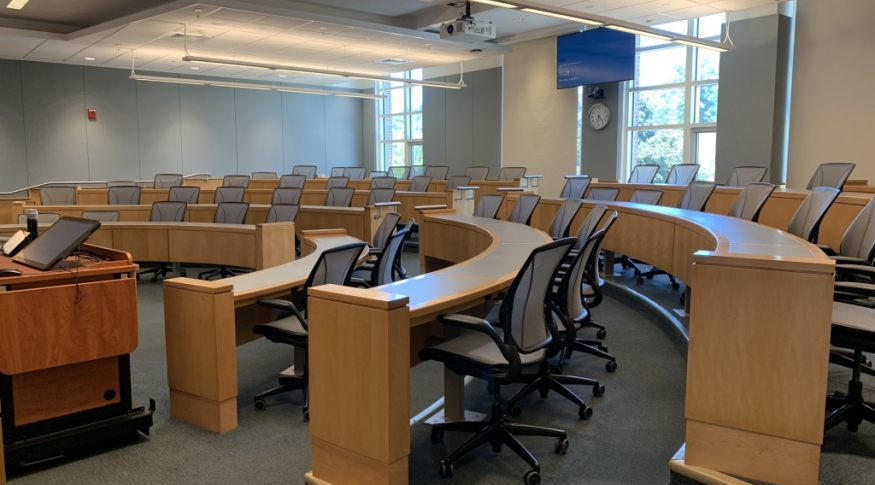 Paul College lecture hall 215