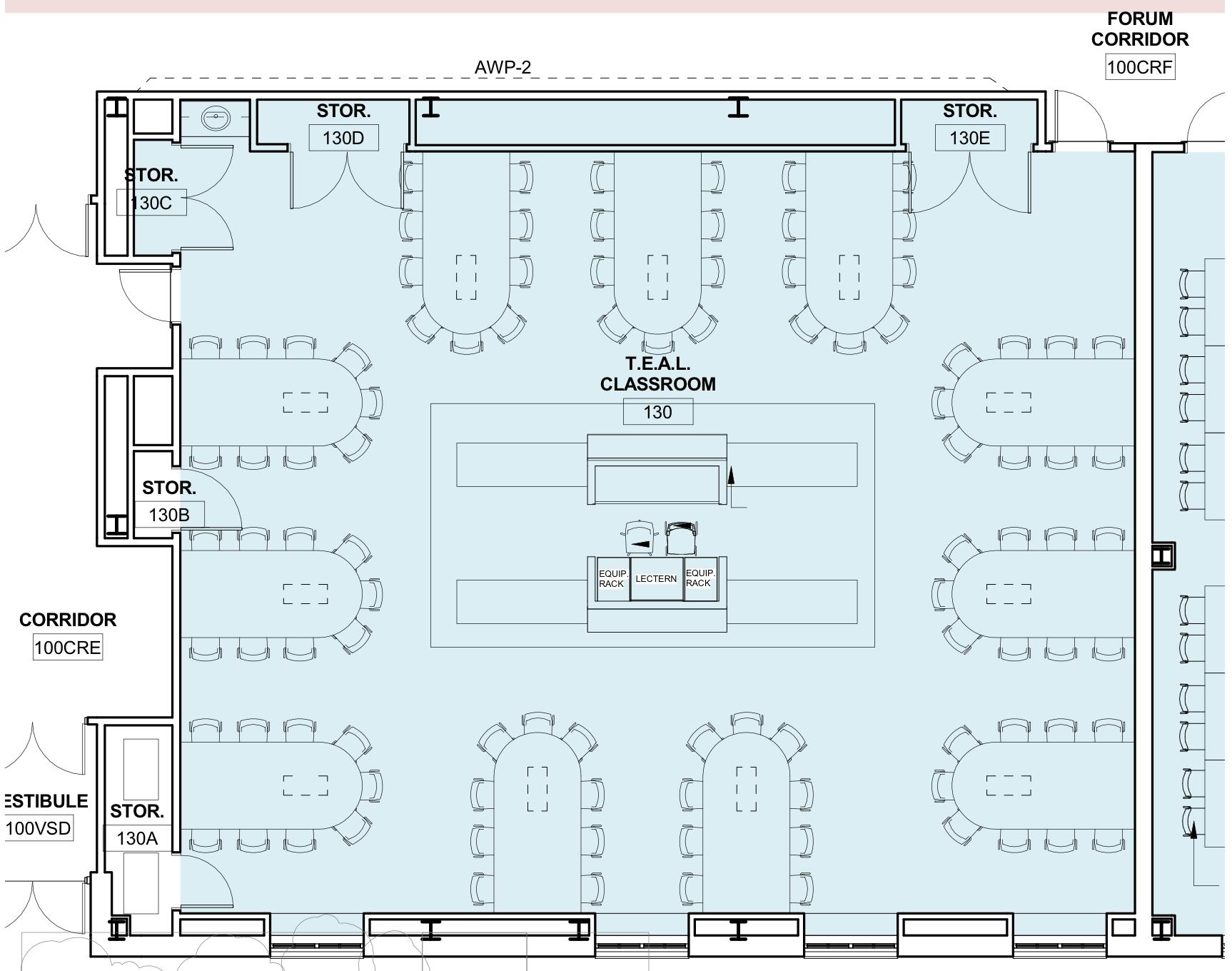 Image of Hamilton-Smith TEAL 99-seat blueprint