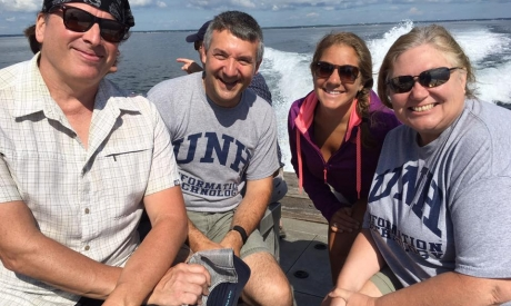 UNH IT Staff visit Appledore island
