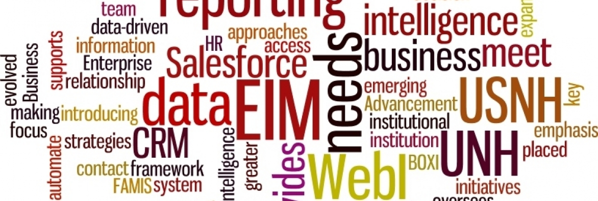 image that shows a word cloud of concepts related to Enterprise Information Management