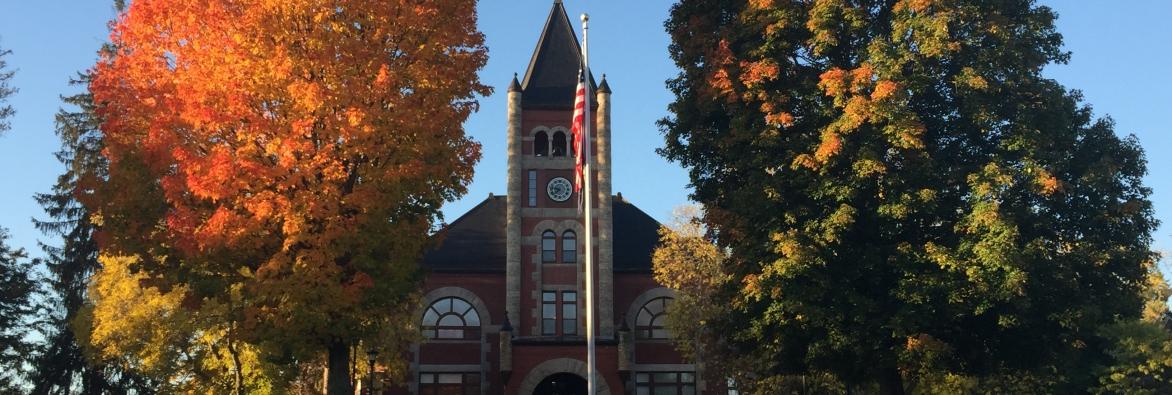 Image of the University of New Hampshire Thompson Hall, Durham, NH.