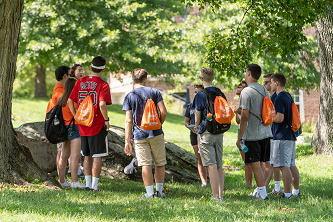 Students participating in Spark on Campus