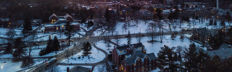 Durham campus in the winter