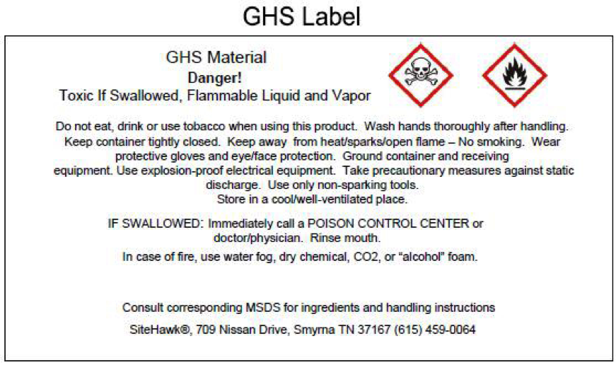 Hazard Communication Labeling Unh Research Office