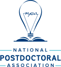 Logo of National Postdoctoral Association, lightbult w NPA inside