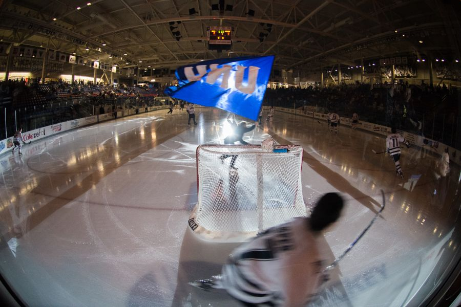 A photo of a UNH Ice Hockey game