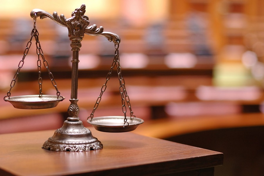 A photo of the scales of justice