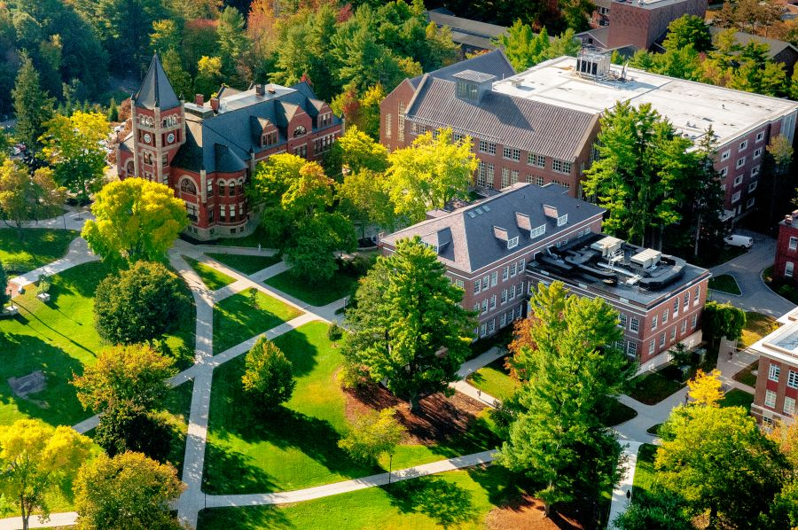 A photo of Thompson hall from above