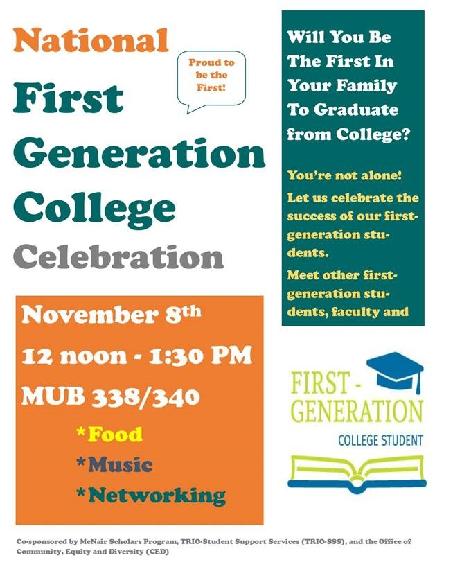 First Annual First-Gen Celebration | University of New Hampshire