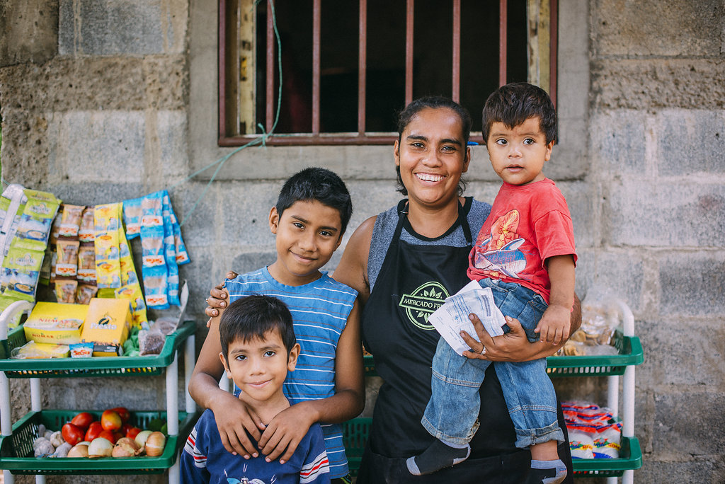 Image of Family at a Supply Hope Market