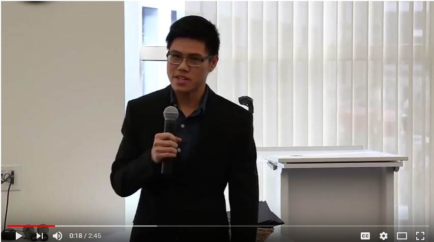Image of Anh's presentation - click to watch video