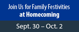 Join Us for Family Festivities at Homecoming, Sept. 30 - Oct. 2
