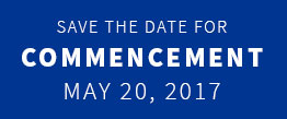 Save the Date for UNH Commencement May 20, 2017