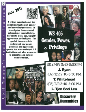 Small picture of Womens Studies Course Gender Power Privilege flyer