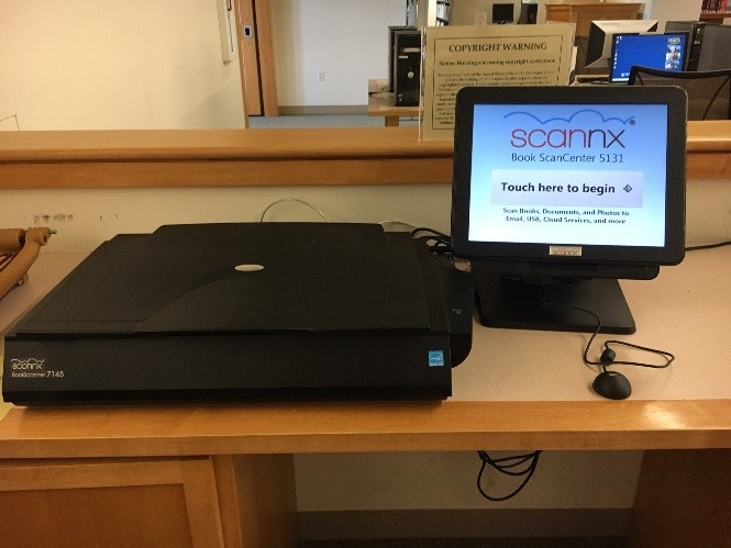 Book Scanner Station in Dimond Library