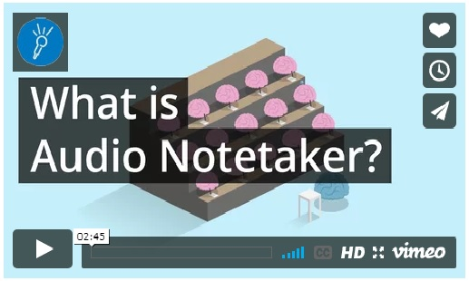 """What is Audio Notetaker?"" Youtube video screenshot"