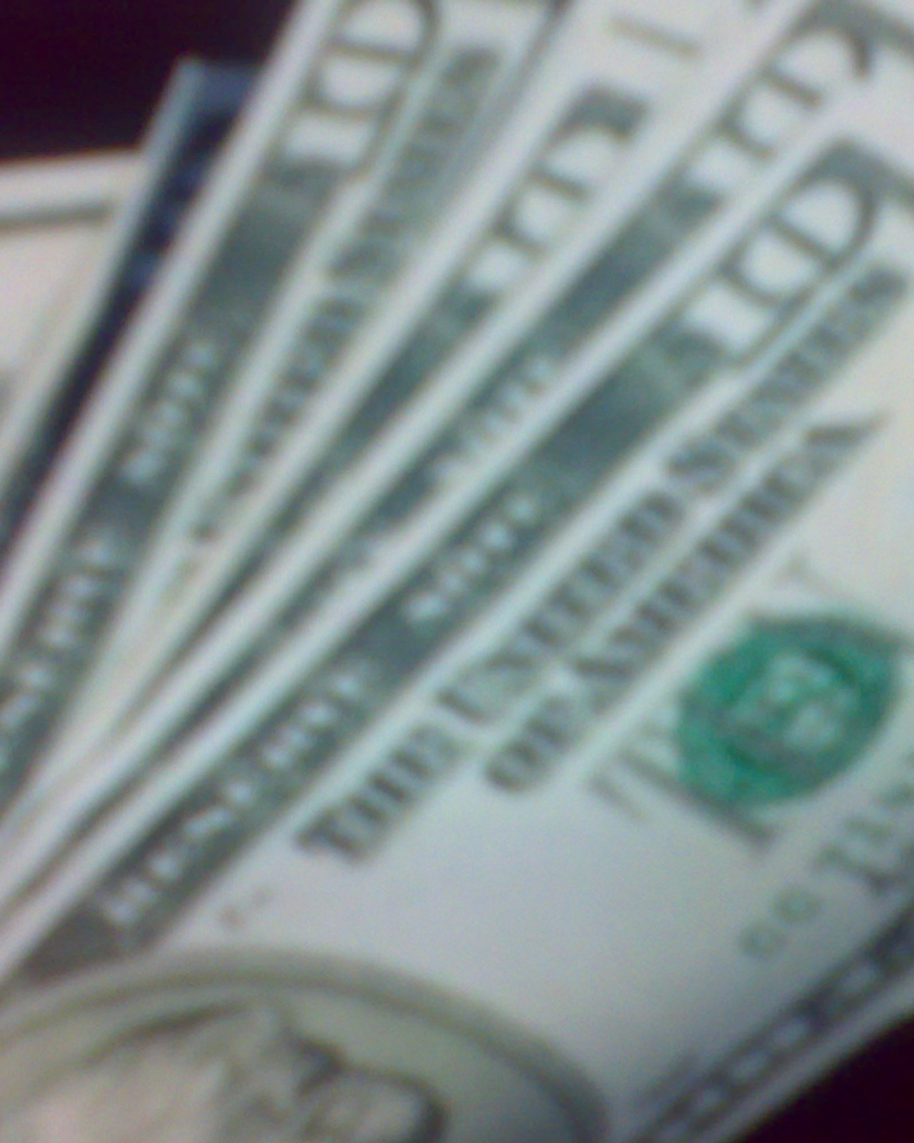 Detail of US money