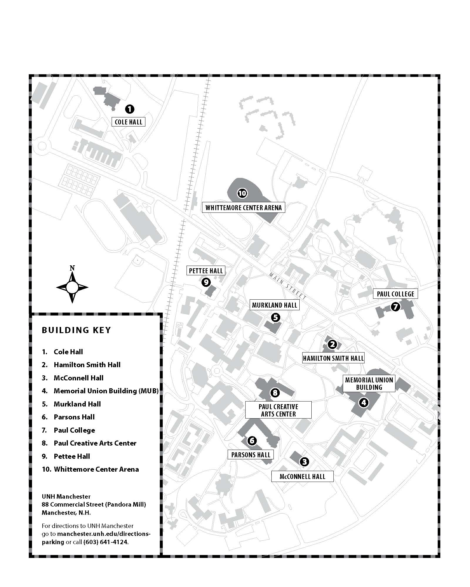 Unh Durham Campus Map University Of New Hampshire