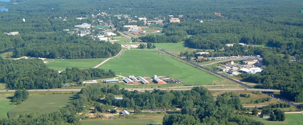 Aerial photo of UNH Campus looking east