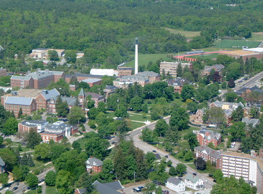 Aerial Photo of Campus looking West