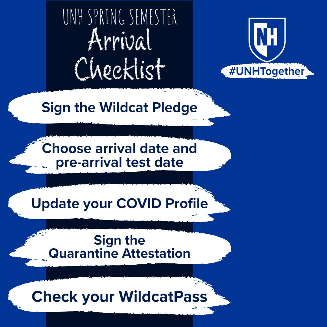 COVID Fall 2021 arrival checklist