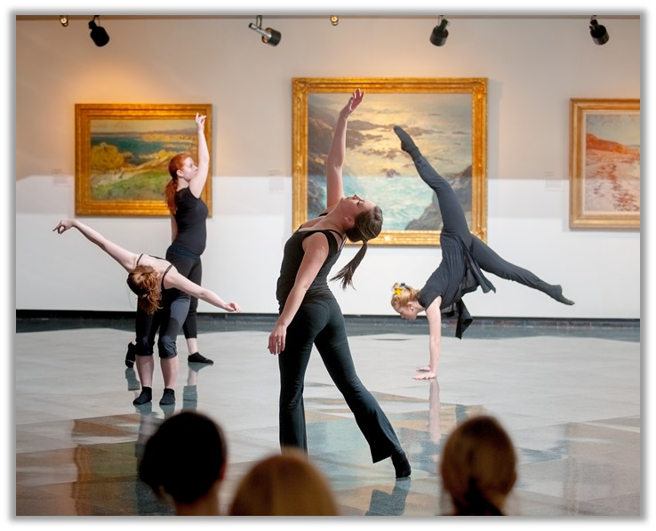 Student dancers in Museum of Art
