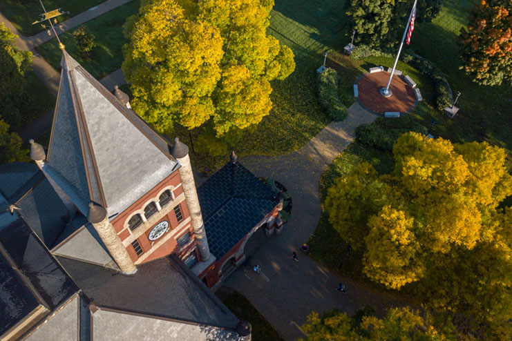 unh aerial campus