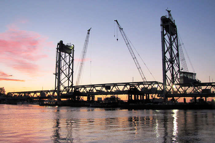 Memorial Bridge in Portsmouth