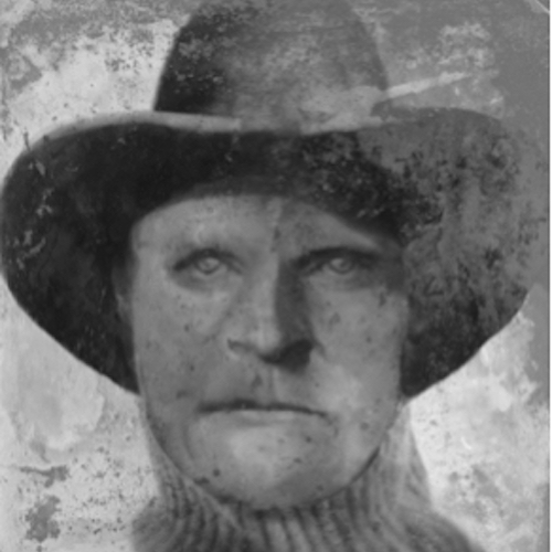 "composite image of ""cold case"" outlaw Joseph Henry Wyatt"
