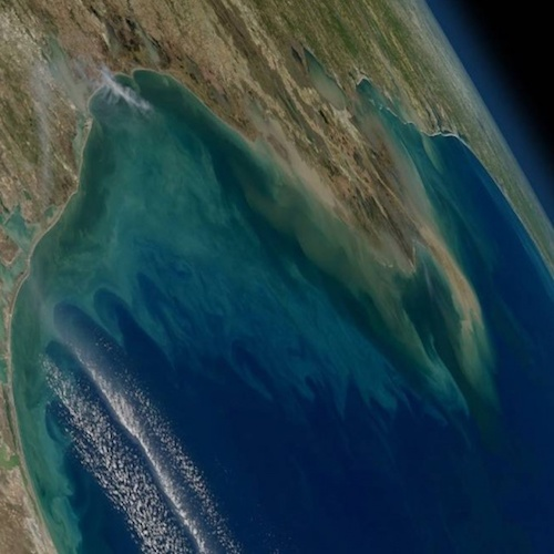NASA image of Gulf of Mexico from space