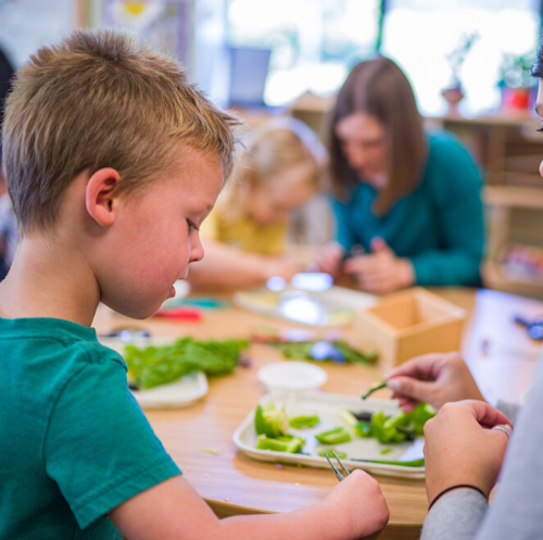 Preschool-boy-working-at-table