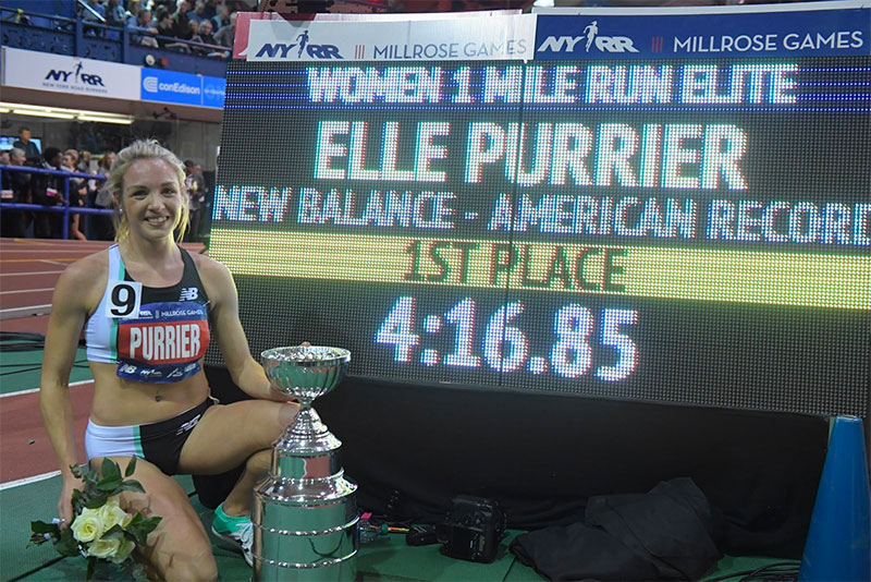 unh eli purrier '18 breaks the indoor mile record