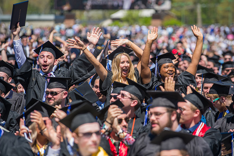 unh graduates celebrate success